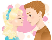 Primo bacio illustrazione di stock