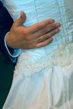 Primo ballo di una coppia nuovo-sposata Immagini Stock Libere da Diritti