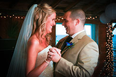 Primo ballo per la sposa e lo sposo Fotografia Stock