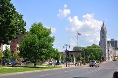 Primo Baptist Church, Watertown, NY, U.S.A. fotografia stock libera da diritti