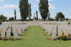 Primo cimitero di legno Belgio di Oosttaverne CWGC di guerra mondiale Fotografie Stock Libere da Diritti