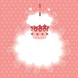 Primo compleanno felice Fotografie Stock