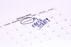 Primo dell'anno - nuovo inizio Fotografie Stock Libere da Diritti