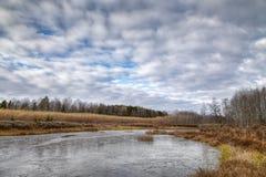 Primo ghiaccio sul lago Fotografia Stock Libera da Diritti