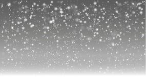 Primo giorno dell'inverno con l'autunno della forte nevicata illustrazione di stock