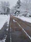 Primo giorno della neve Fotografia Stock Libera da Diritti