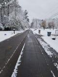 Primo giorno di Snowie immagini stock libere da diritti