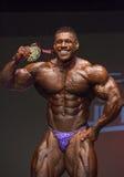 Primo Male Bodybuilder Nathan De Asha Photo libre de droits