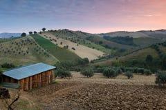 Primo mattino Abruzzo Immagine Stock Libera da Diritti