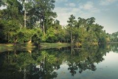 Primo mattino al ¼ ŒCambodia di Angkor Watï immagini stock libere da diritti