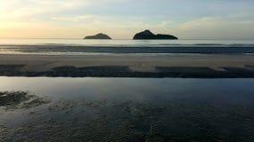 Primo mattino, alba sopra il mare Fotografia Stock