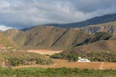 Primo mattino alla valle di Matjiesvlei nello Swartberg Immagini Stock