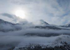 Primo mattino in alpi francesi Immagine Stock Libera da Diritti