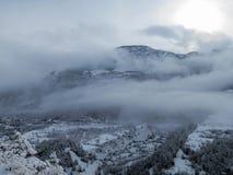 Primo mattino in alpi francesi Fotografie Stock Libere da Diritti