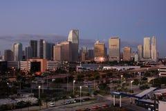 Primo mattino del centro di Miami Fotografie Stock