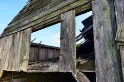 Primo mattino 09 del granaio della Luisiana nessun tetto fotografia stock