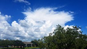 Primo mattino delle nuvole di tempesta Immagine Stock Libera da Diritti