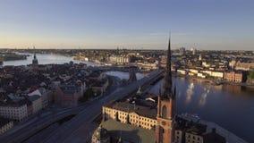 Primo mattino di Stoccolma Svezia stock footage