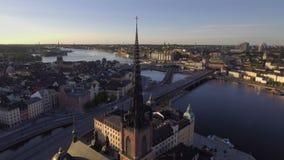 Primo mattino di Stoccolma Svezia archivi video