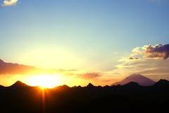 Primo mattino Elbrus Fotografie Stock Libere da Diritti