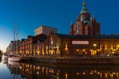 Primo mattino a Helsinki Immagine Stock