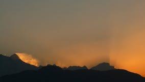 Primo mattino in Himalaya Nepal Poon Hill - punto di vista dell'Ann Fotografia Stock Libera da Diritti