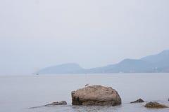 Primo mattino Mar Nero del paesaggio fotografie stock libere da diritti