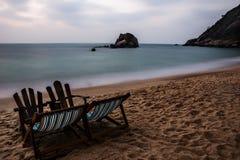 Primo mattino sulla spiaggia Immagini Stock Libere da Diritti