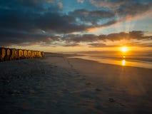 Primo mattino sulla spiaggia falsa della baia nel Sudafrica - 9 Fotografia Stock Libera da Diritti