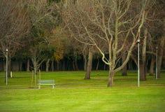 Primo mattino in un parco pubblico abbandonato Immagine Stock Libera da Diritti