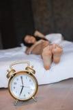 Primo mattino una giovane bella donna Fotografia Stock