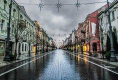 Primo mattino a Vilnius, Lituania fotografia stock