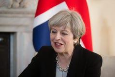 Primo Ministro del Regno Unito Theresa May Immagine Stock Libera da Diritti