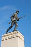 Primo monumento del reggimento del Minnesota a Gettysburg Fotografie Stock Libere da Diritti