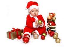 Primo natale del piccolo â del Babbo Natale Fotografia Stock
