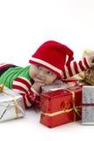 Primo natale di Babys felice Immagine Stock Libera da Diritti