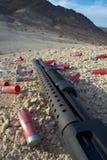 Primo piano 2 del fucile da caccia fotografia stock