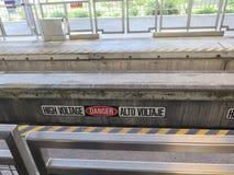 Primo piano ad alta velocità del treno della monorotaia Fotografia Stock Libera da Diritti
