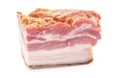 Primo piano affumicato del taglio della lastra del bacon Immagine Stock Libera da Diritti