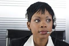 Primo piano africano della donna di affari immagini stock