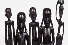 Primo piano africano della famiglia Immagine Stock Libera da Diritti