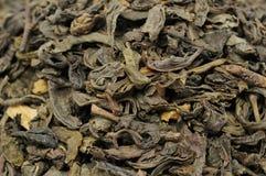 Primo piano allentato del tè verde Immagini Stock