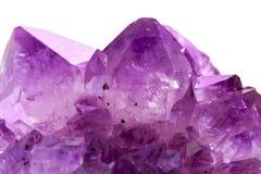 Primo piano ametista della pietra di gemma immagini stock libere da diritti