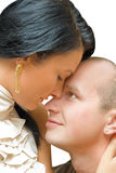 Primo piano amoroso delle coppie Fotografia Stock Libera da Diritti