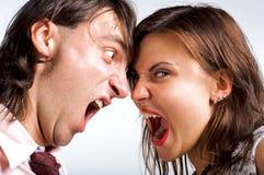 Primo piano amoroso di divorzio Immagine Stock