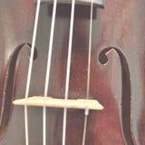 Primo piano antico del violino, sbiadito fotografia stock