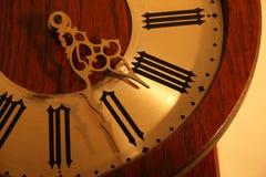 Primo piano antico dell'orologio Immagini Stock Libere da Diritti