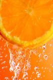 Primo piano arancione della fetta Immagini Stock Libere da Diritti