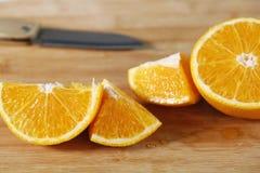 Primo piano arancione fresco Immagine Stock Libera da Diritti