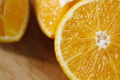 Primo piano arancione fresco Fotografia Stock Libera da Diritti